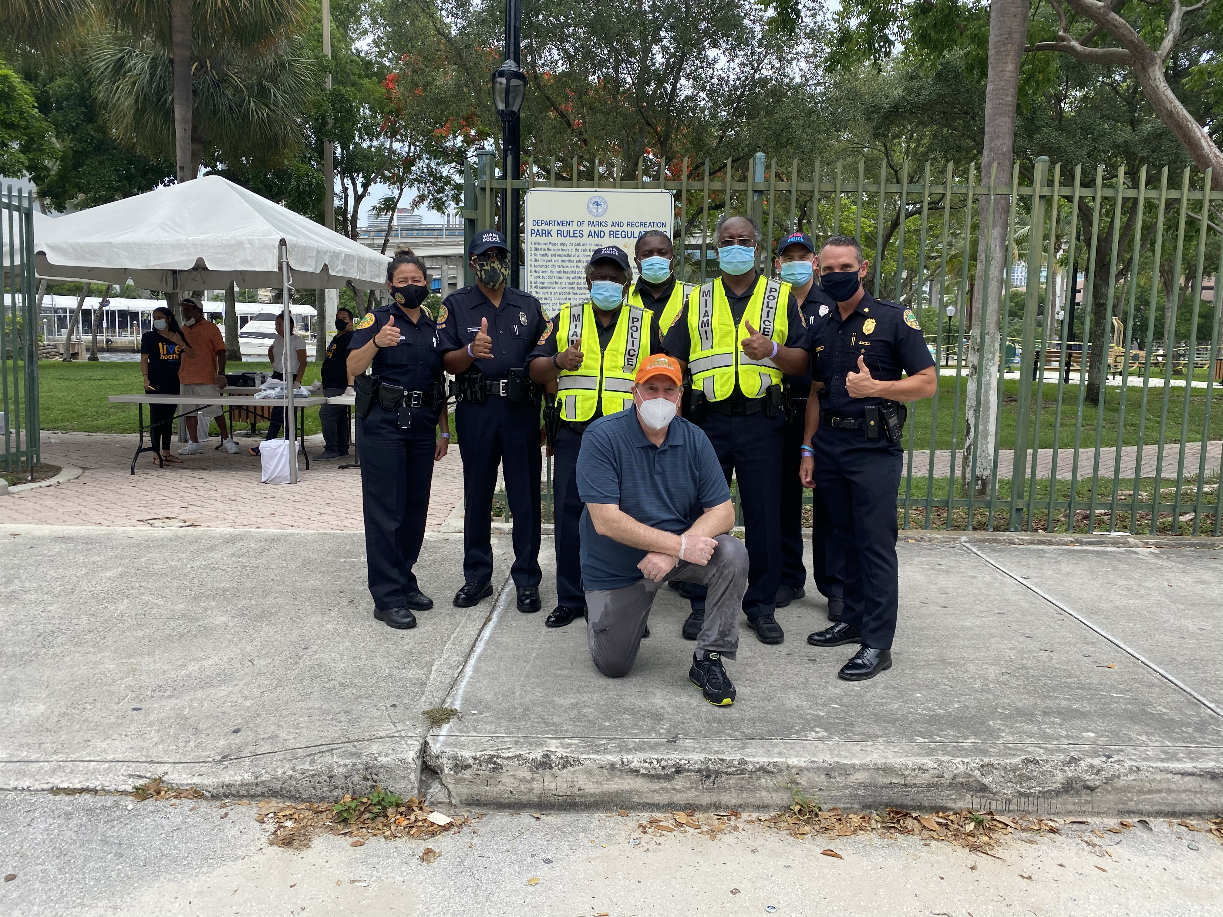 Covid-19  Relief Programs: Hot Meals with the assistance of Miami Police