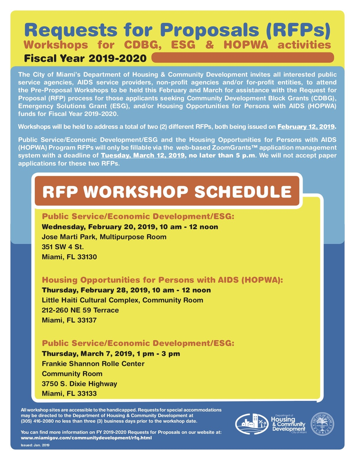 RFP Workshops - Miami